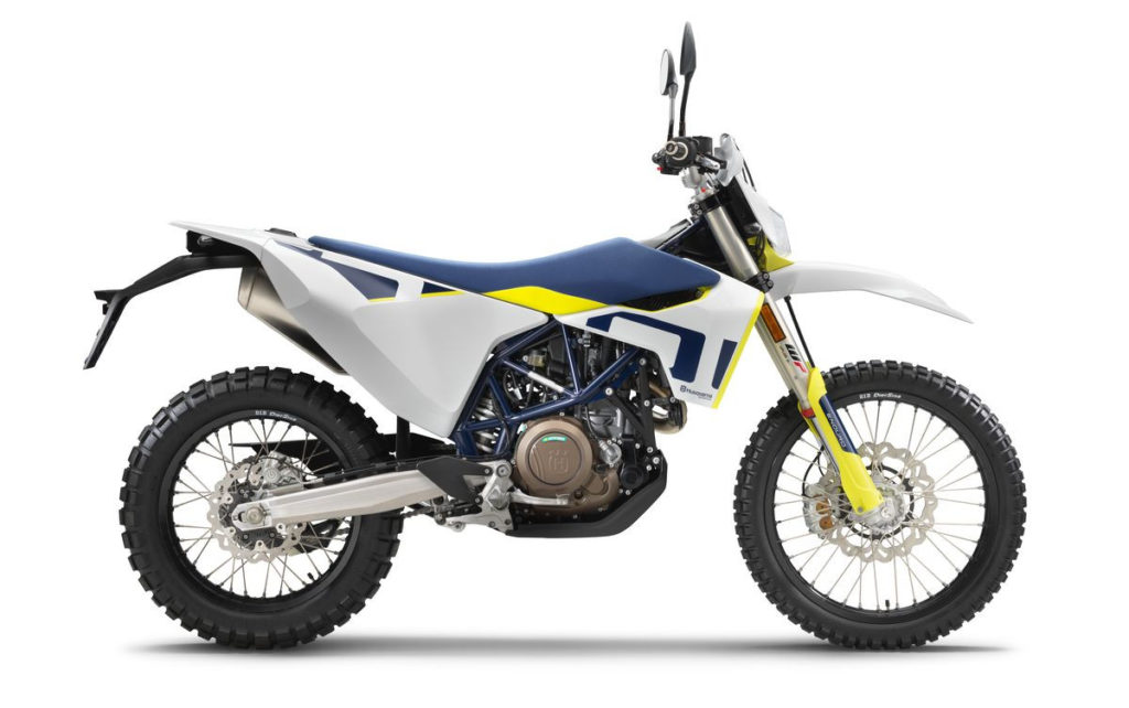 A 2020 Husqvarna 701 Enduro. Photo courtesy of Husqvarna Motorcycles North America, Inc.
