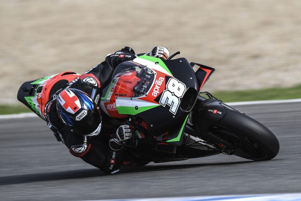 Bradley Smith (38). Photo courtesy of Aprilia Gresini Racing.