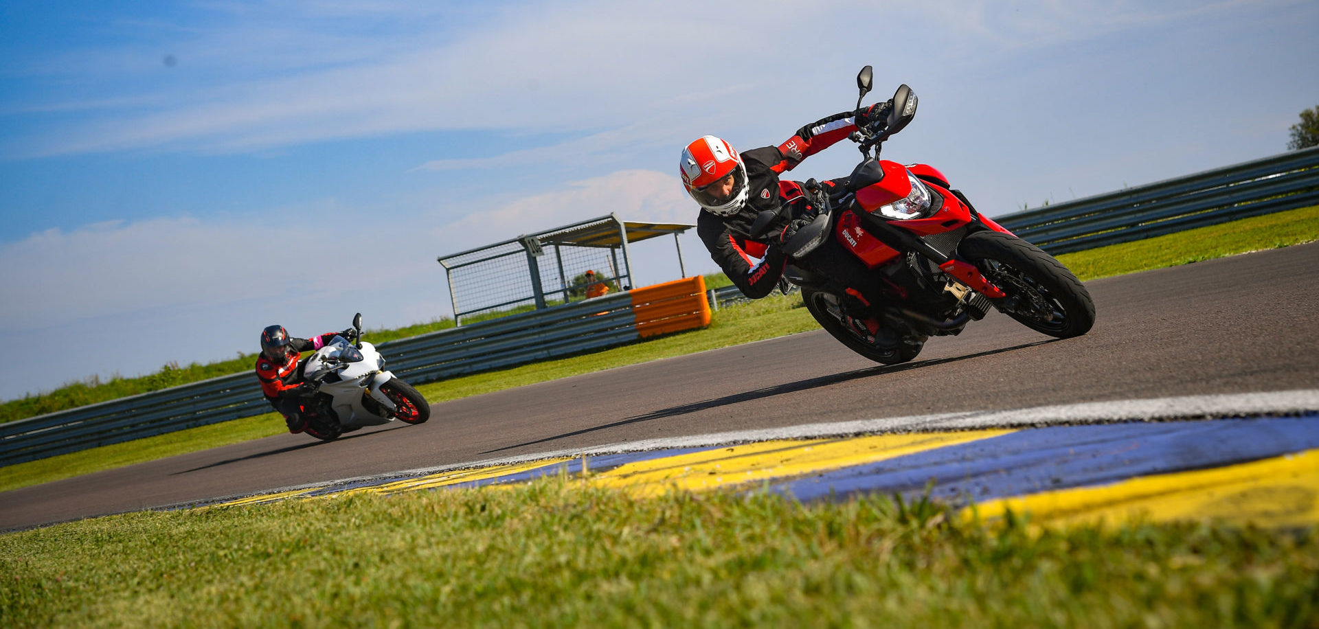 Action from a DRE Road event. Photo courtesy of Ducati.