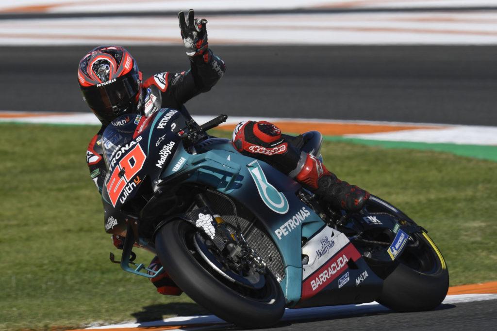 Fabio Quartararo (20). Photo courtesy of Dorna/www.motogp.com.