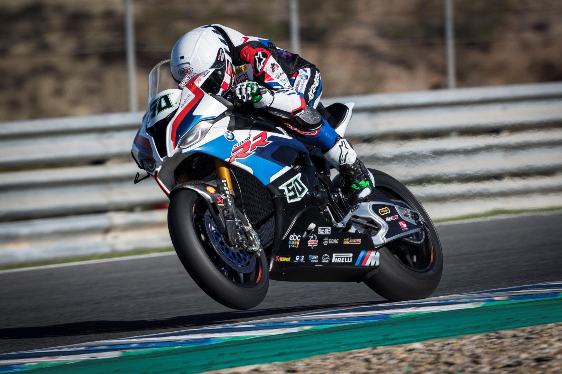 Eugene Laverty (50). Photo courtesy of BMW Motorrad WorldSBK Team.