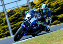 Four-time AMA Superbike Champion Josh Hayes (4) will once again ride for Mojo Yamaha's Team USA in the Phillip Island International Challenge. Photo by Russell Colvin, courtesy of Phillip Island Grand Prix Circuit.