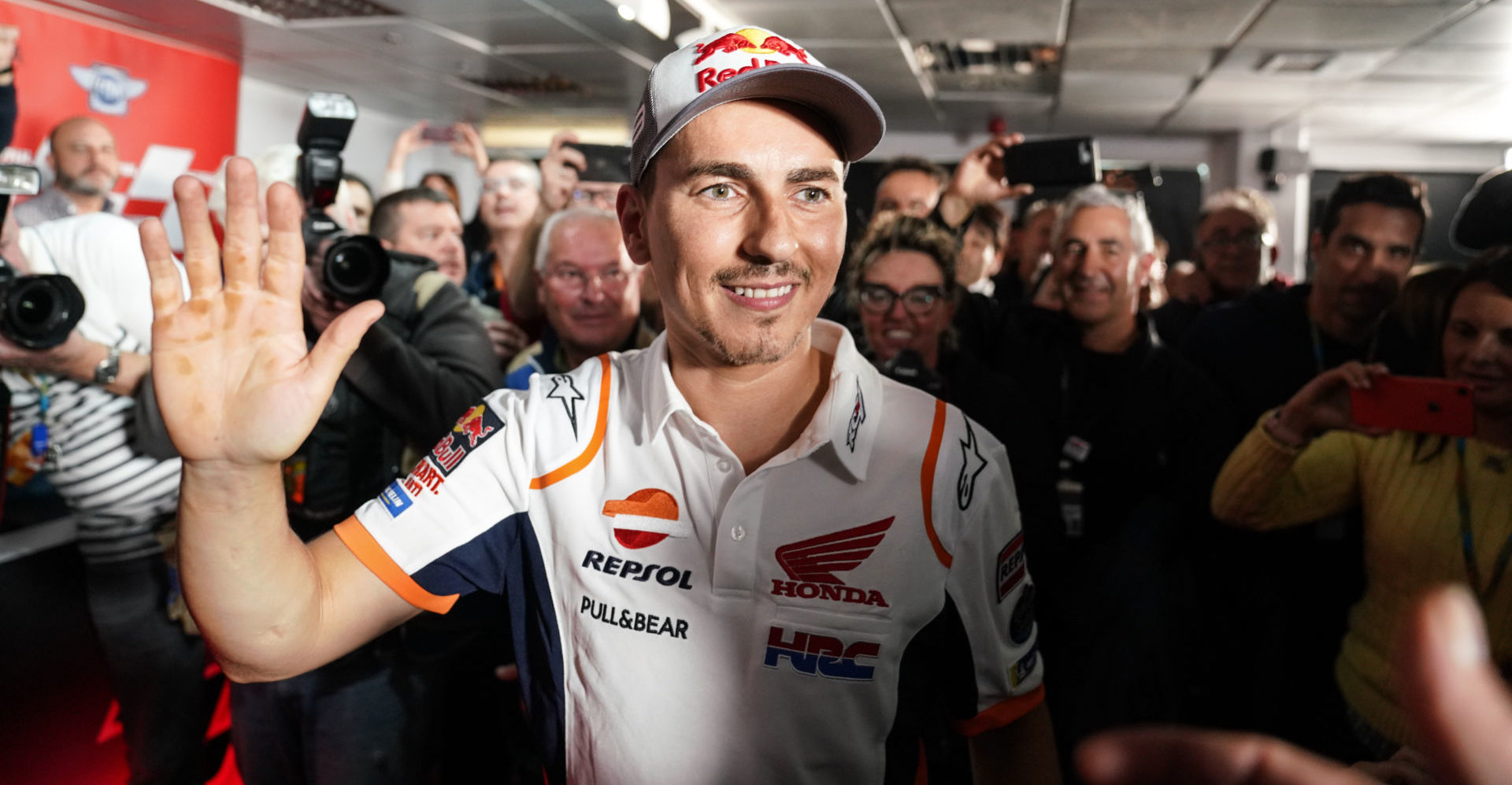 Jorge Lorenzo at the press conference in Valencia where he announced his retirement from racing. Photo courtesy of Repsol Honda.