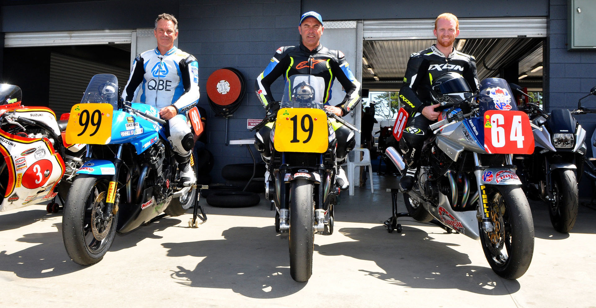 Team Australia's (from left) Steve Martin, Shawn Giles, and Aaron Morris, as seen in January 2019. Photo by Russell Colvin, courtesy of Phillip Island Grand Prix Circuit.