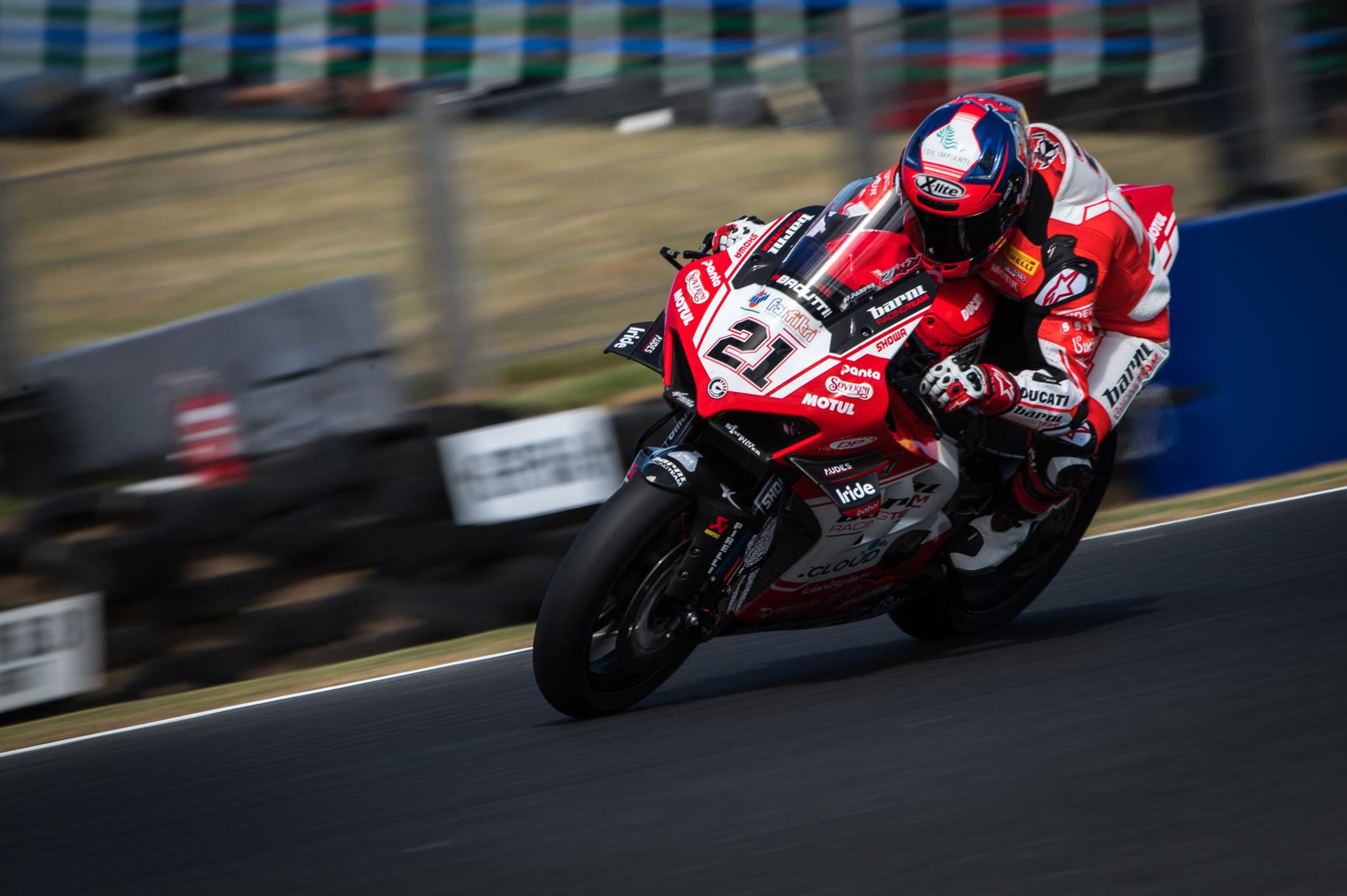 Michael Rinaldi (21), as seen on his Ducati Panigale V4 R during the 2019 season. Photo courtesy of Barni Racing Team.