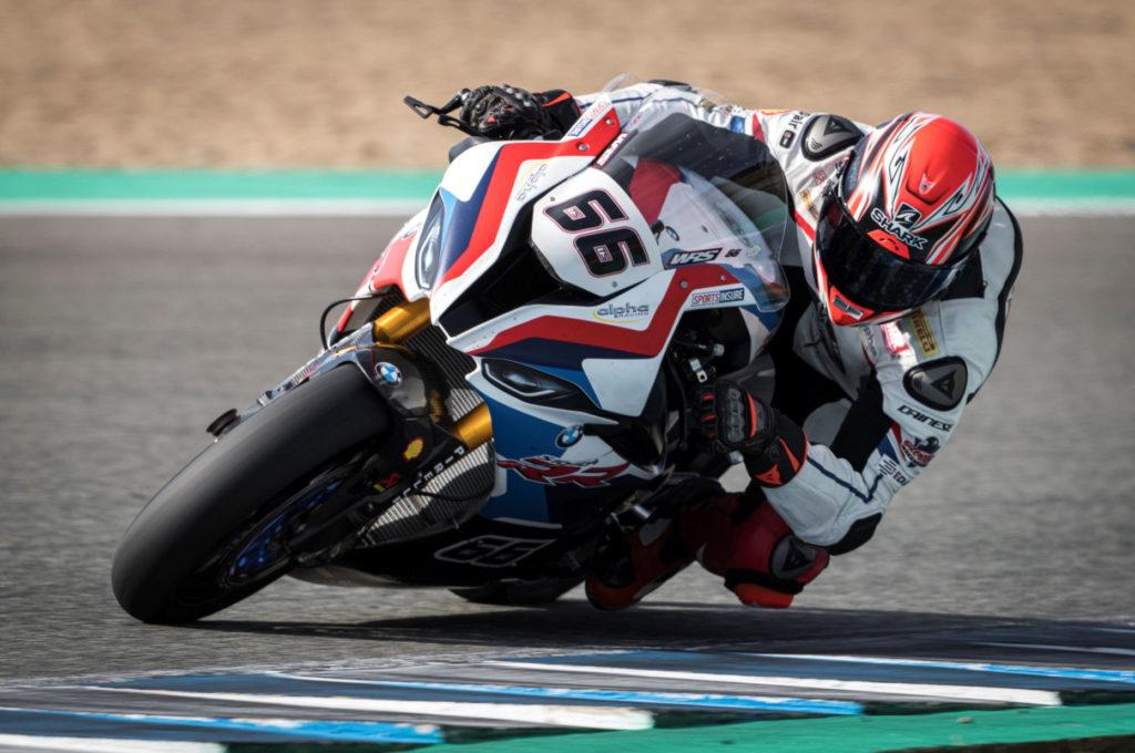 Tom Sykes (66). Photo courtesy of BMW Motorrad WorldSBK Team.