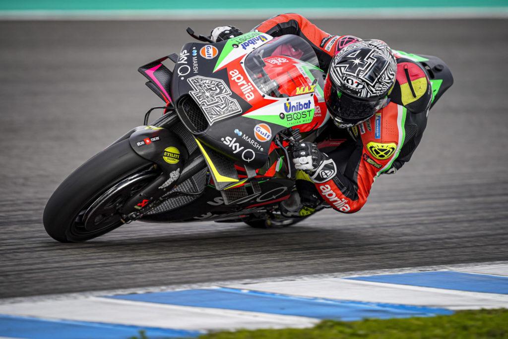 Aleix Espargaro (41). Photo courtesy of Aprilia Gresini Racing.