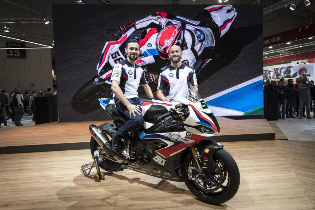 Eugene Laverty (left) and Tom Sykes (right). Photo courtesy of BMW Motorrad Motorsport.