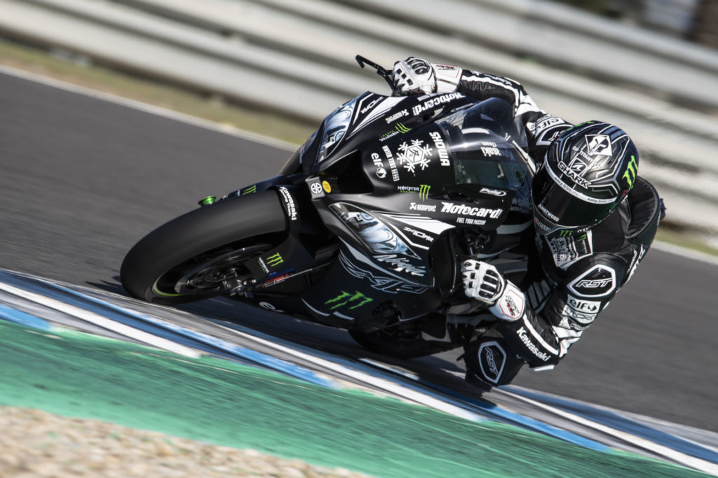 Alex Lowes in action at Jerez. Photo courtesy of Kawasaki.