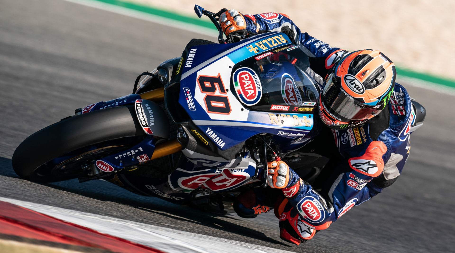 Pata Yamaha's Michael van der Mark (60) will get to try his 2020 YZF-R1 Superbike for the first time, at Jerez. Photo courtesy of Yamaha.