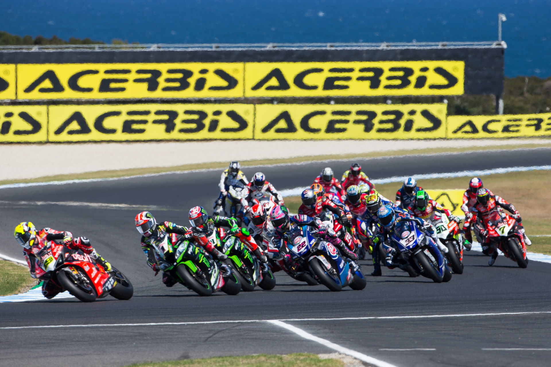 Action from the opening round of the 2019 FIM Superbike World Championship. Photo courtesy of Kawasaki.