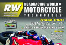 The front cover of the 2019 December issue of Roadracing World Motorcycle Technology magazine.