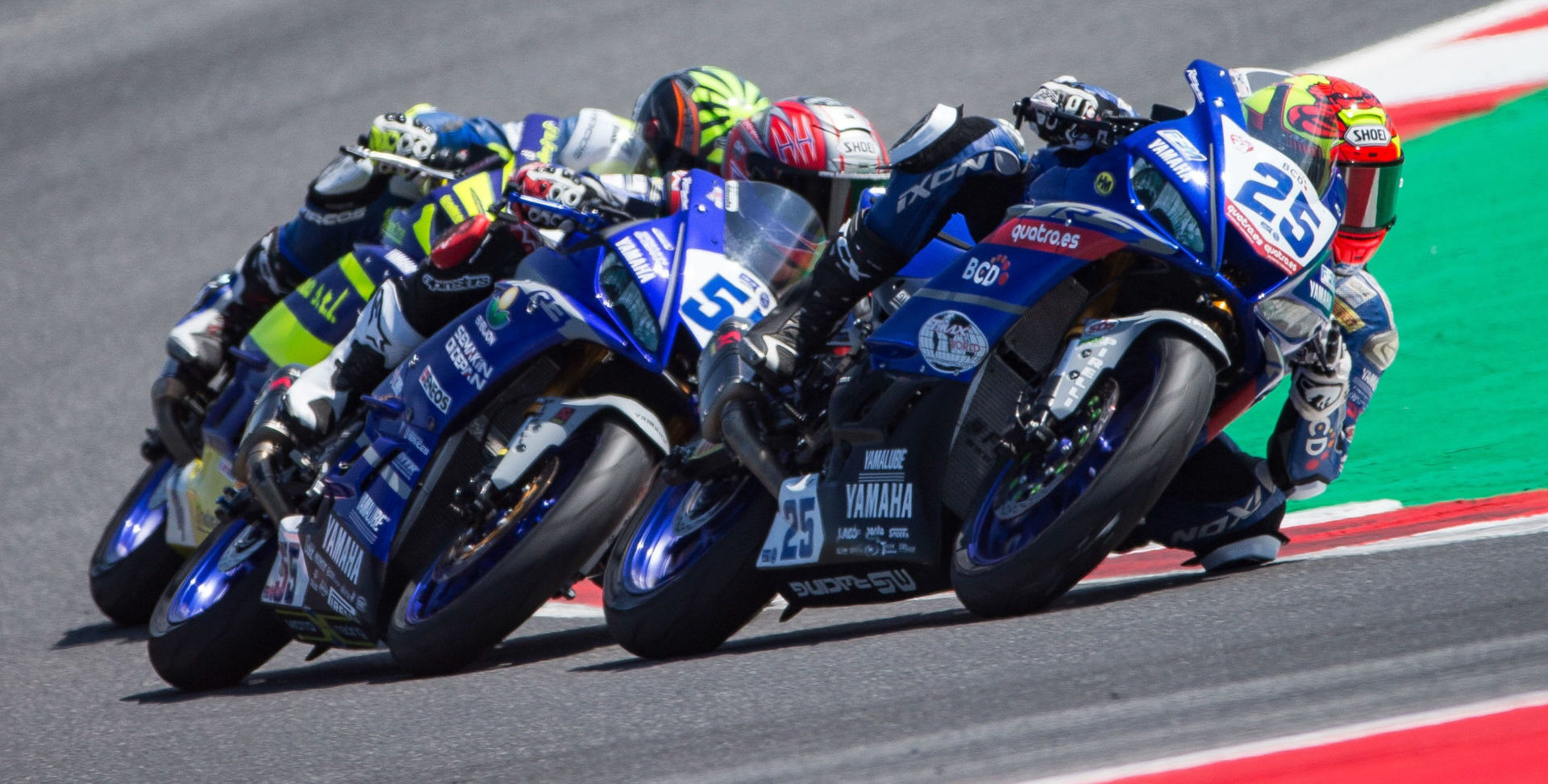 Andy Verdoïa (25) and Galang Hendra Pratama (55) are moving up from the FIM Supersport 300 World Championship to the FIM Supersport World Championship in 2020. Photo courtesy of Yamaha.