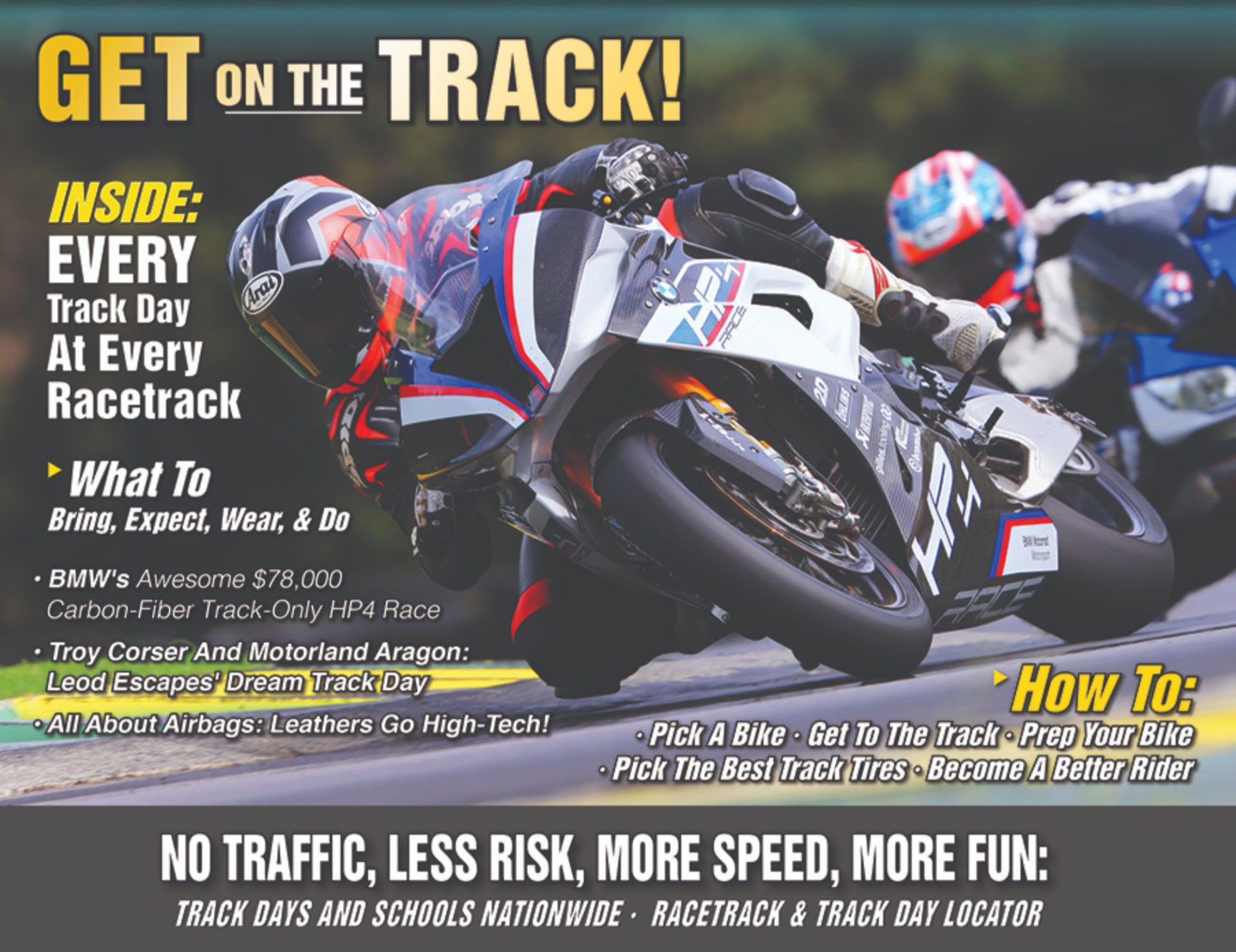 The cover of the 2019 Roadracing World Trackday Directory.