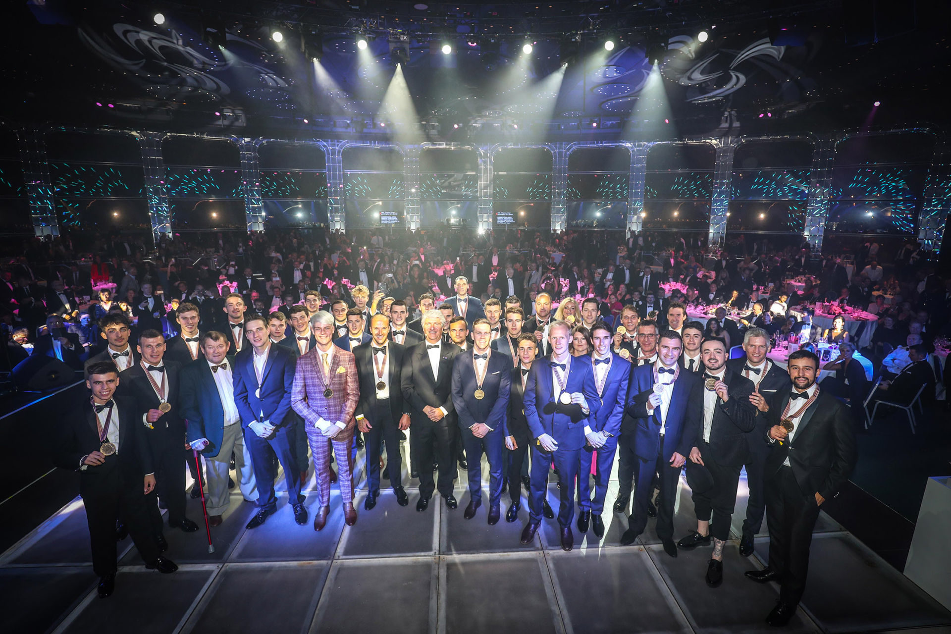Award winners on stage at the 2019 FIM Awards Gala in Monaco. Photo by www.good-shoot.com/Reygondeau, courtesy of FIM.