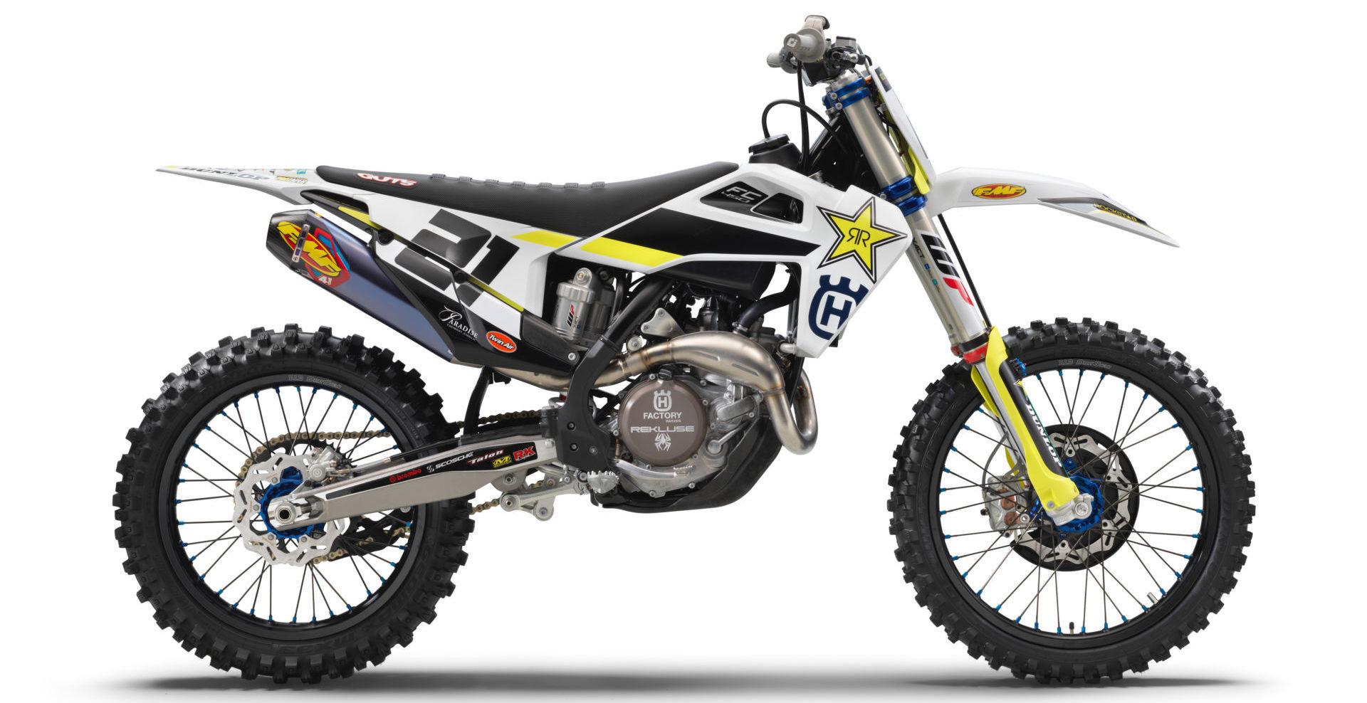 A 2020-model Husqvarna FC 450 Rockstar Edition. Photo courtesy of Husqvarna Motorcycles.