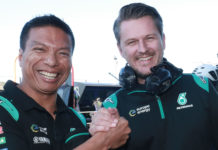 PETRONAS Yamaha Sepang Racing Team Principal Razlan Razali (left) and Team Director Johan Stigefelt (right). Photo courtesy of PETRONAS Yamaha SRT.