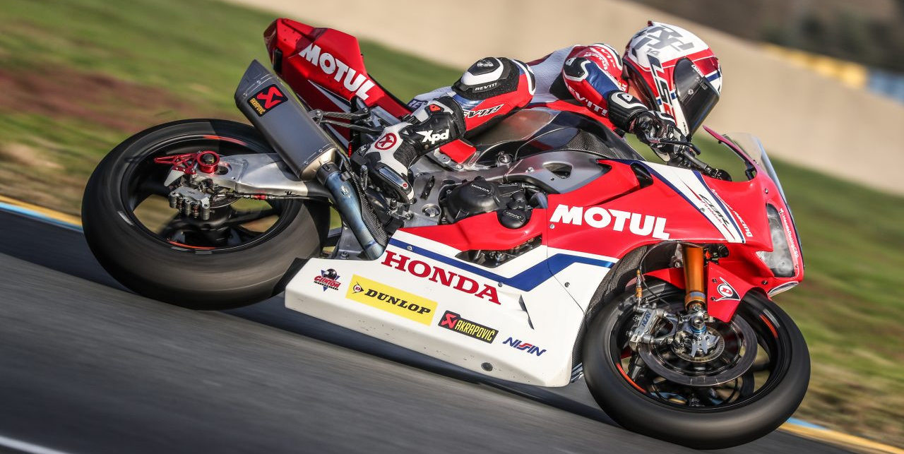 Randy de Puniet in action on the Honda Endurance Racing CBR1000RR during the 2018-2019 FIM Endurance World Championship. Photo courtesy of Honda Pro Racing.