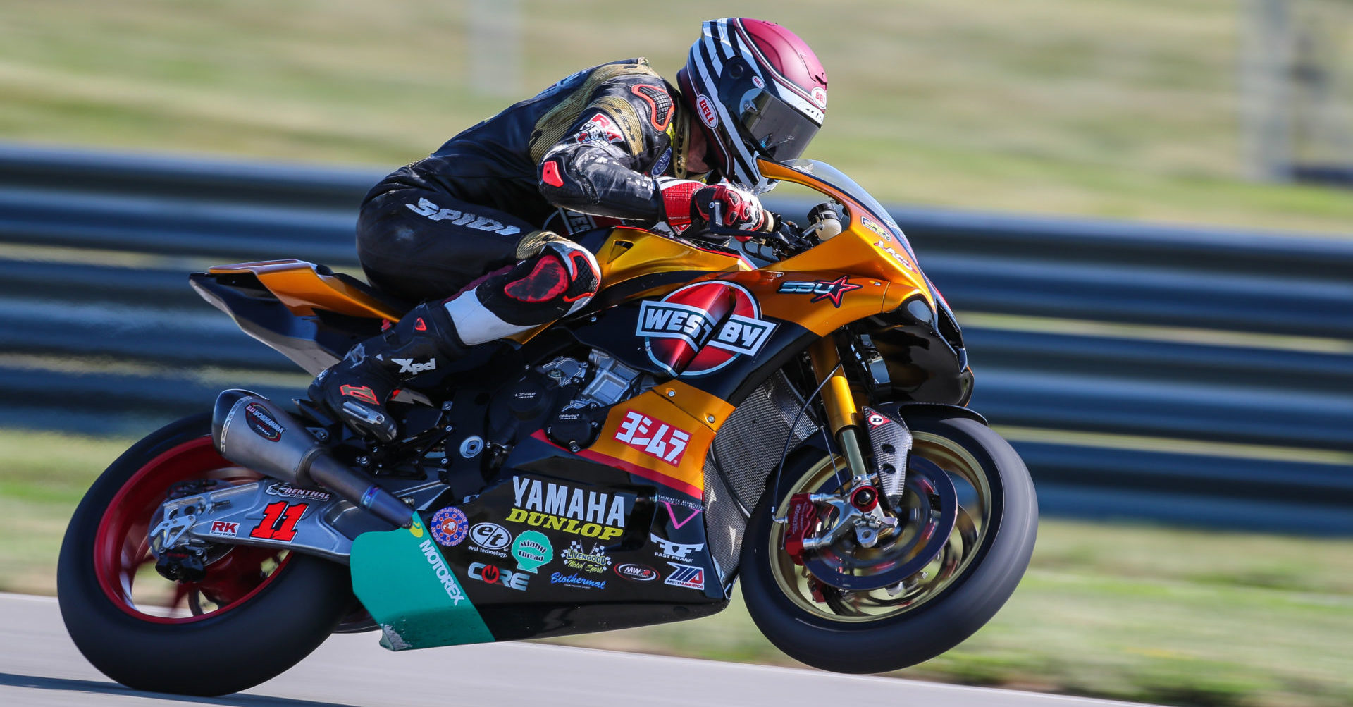 Mathew Scholtz (11) on his Westby Racing Yamaha YZF-R1. Photo courtesy of Westby Racing.