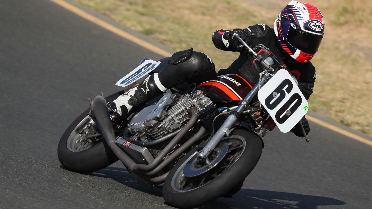 A vintage Superbike at speed during a MotoAmerica event at Sonoma Raceway. Photo by Brian J. Nelson, courtesy of MotoAmerica.
