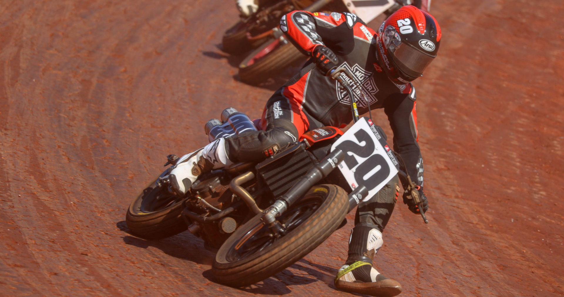 Jared Vanderkooi (20) returns to the Harley-Davidson factory team for the 2020 American Flat Track (AFT) SuperTwins Championship. Photo by Scott Hunter, courtesy of AFT.