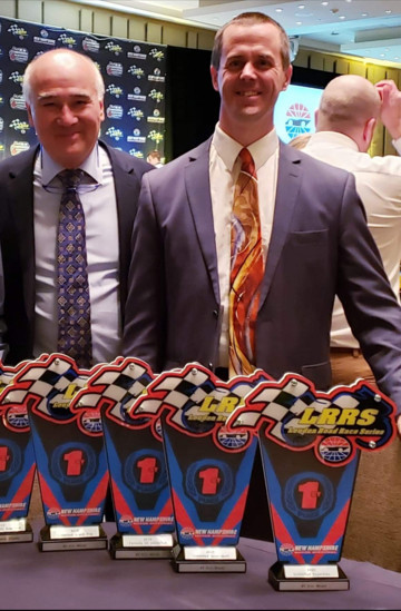 John Grush (left) and Eric Wood (right) at the 2019 LRRS awards banquet. Photo courtesy of LRRS/NHMS.