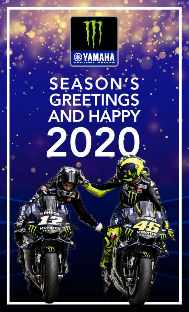 From the Monster Energy Yamaha MotoGP team