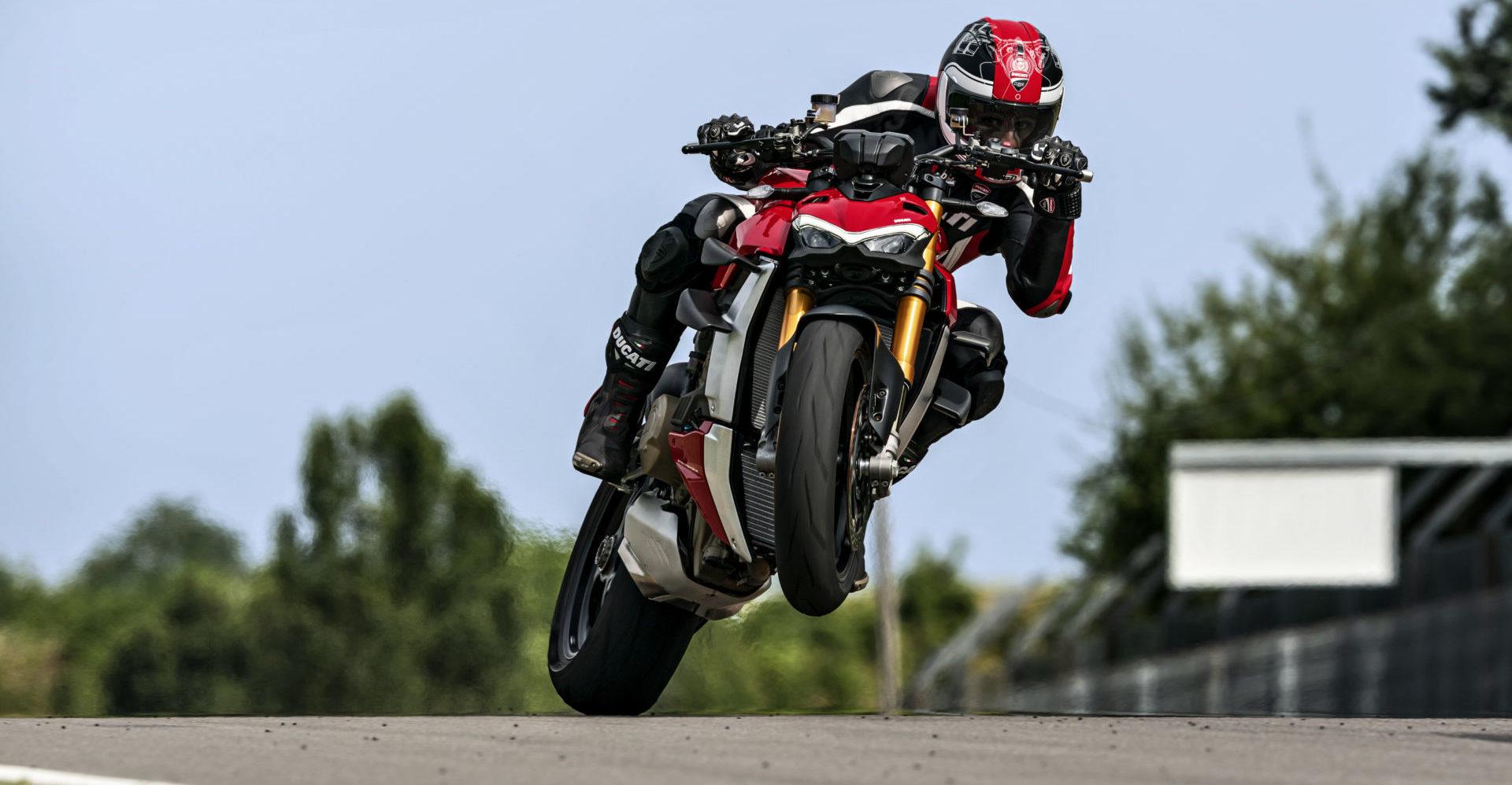 A 2020 Ducati Streetfighter V4 S. Photo courtesy of Ducati.