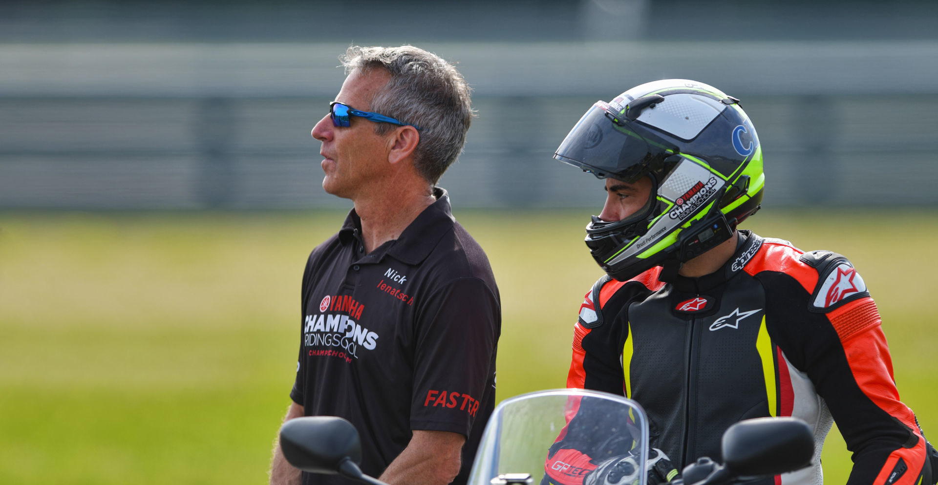 Yamaha Champions Riding School's (YCRS) Nick Ienatsch (left) and Chris Peris (right). Photo courtesy of YCRS.