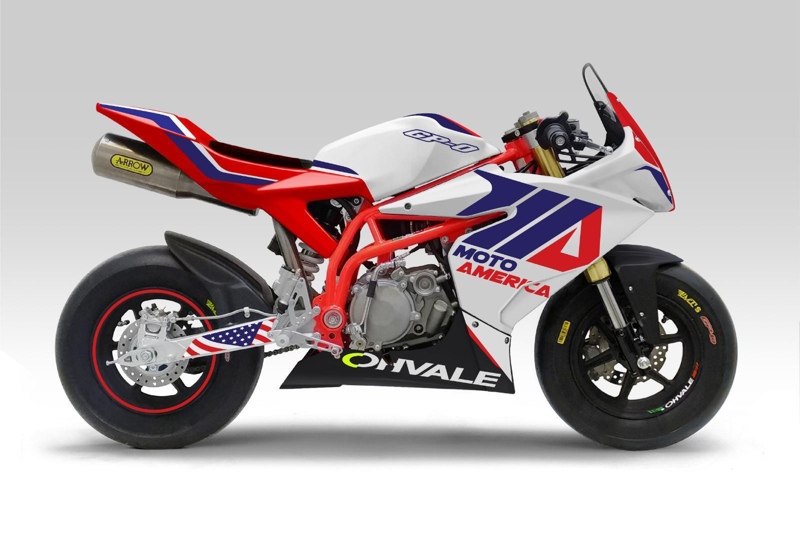 The new MotoAmerica Mini Cup is centered around purpose-built Ohvale mini road race bikes. Photo courtesy of MotoAmerica.