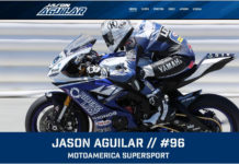 A screenshot of MotoAmerica racer Jason Aguilar's new website. Image courtesy of Jason Aguilar.