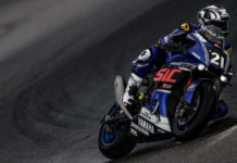 Yamaha Sepang Racing's Hafizh Syahrin (21) in action at Sepang. Photo courtesy of Eurosport Events/FIM EWC.
