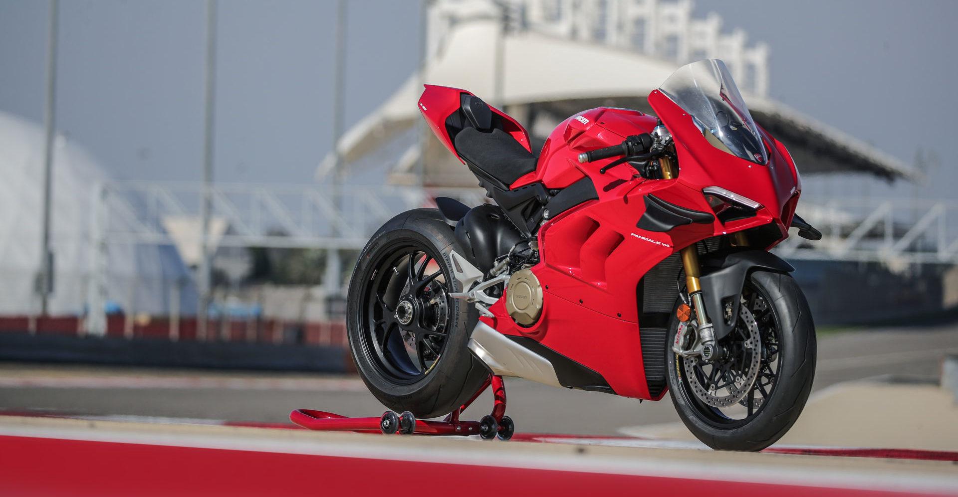 A 2020-model Ducati Panigale V4 S. Photo courtesy of Ducati.