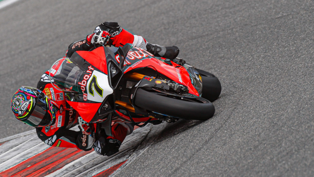 Chaz Davies (7). Photo courtesy of Dorna WorldSBK Press Office.