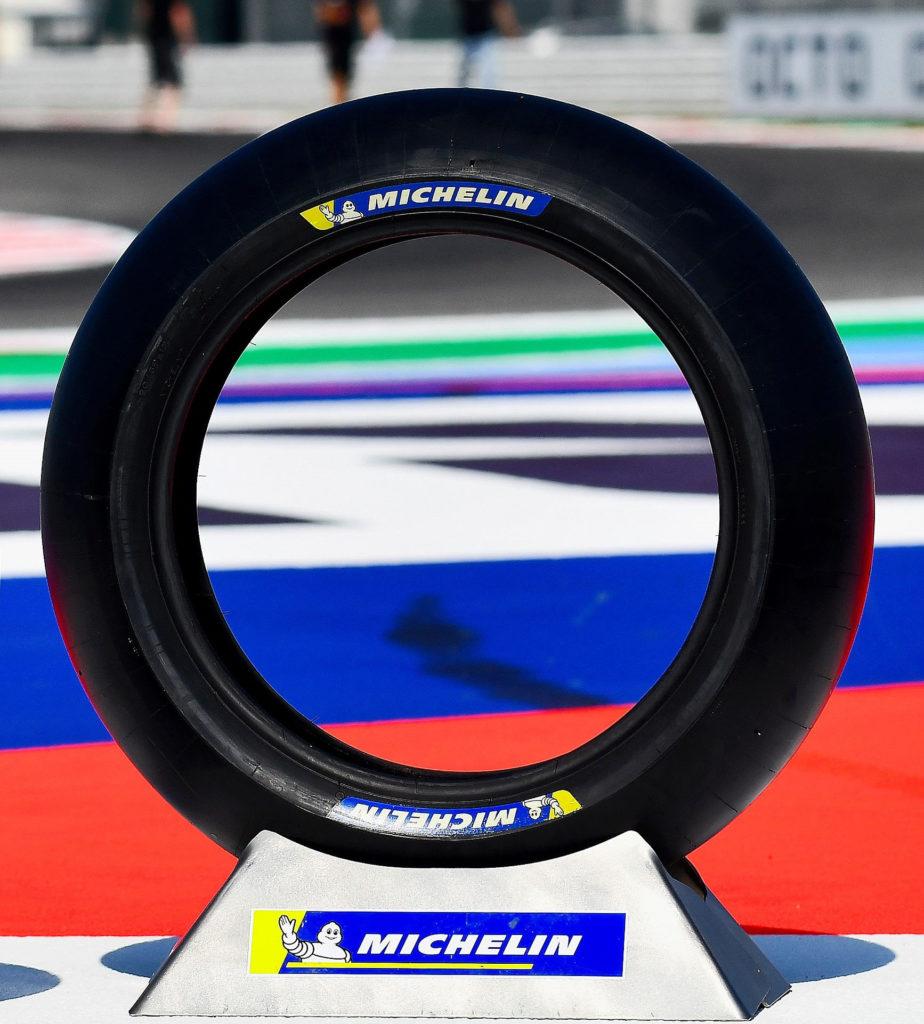 Michelin's new-construction rear Power Slick for the 2020 MotoGP World Championship. Photo courtesy of Michelin.