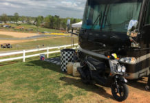 A camping spot at Michelin Raceway Road Atlanta. Photo courtesy of MotoAmerica.