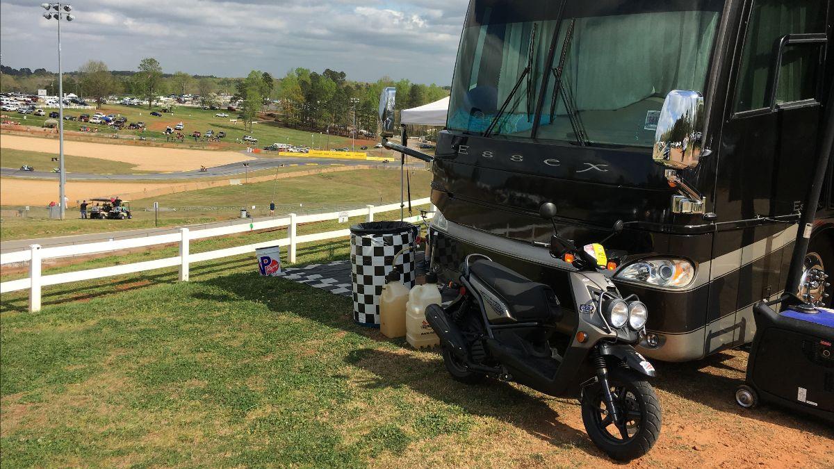 A camping spot at Michelin Raceway Road Atlanta. Photo courtesy of MotoAmerica.