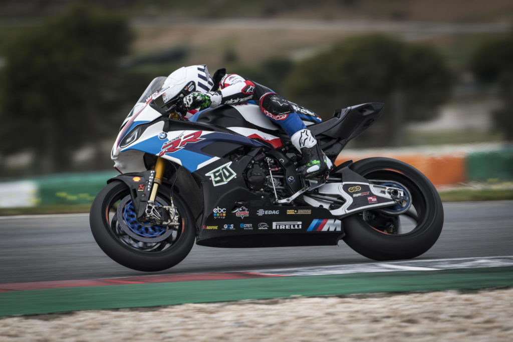 Eugene Laverty (50). Photo courtesy of BMW Motorrad Motorsport WorldSBK Team.