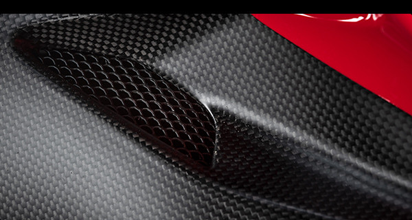 This photo of a carbon-fiber body panel accompanied an email sent to Ducati customers inviting them to follow the development of Project 1708. Photo courtesy of Ducati.