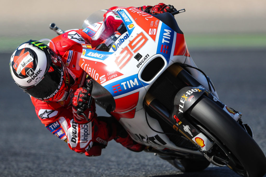 Jorge Lorenzo for several manufacturers across three classes, taking 68 victories in total. Photo courtesy of Dorna/www.motogp.com.