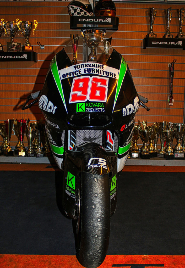 Brandon Paasch's new British GP2 racebike. Photo by Jade Goodison Photography, courtesy of RS Racing.