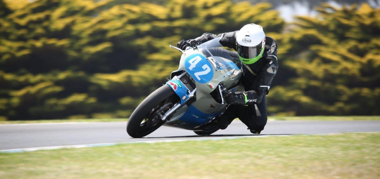 Team UK's Alex Sinclair (42) in action at Phillip Island Lukey Heights in 2018. Photo by Russell Colvin, courtesy of Phillip Island.