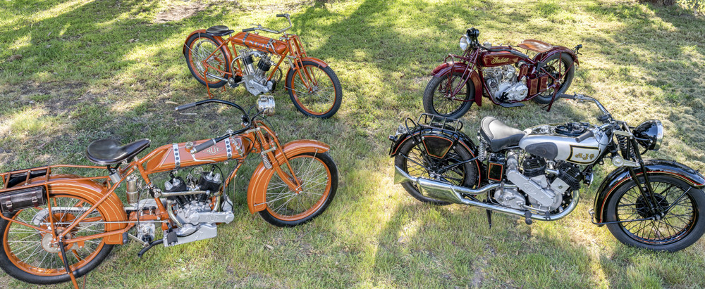 Some of the vintage motorcycles to be auctioned by Bonhams on January 23, 2020. Photo courtesy of Bonhams.