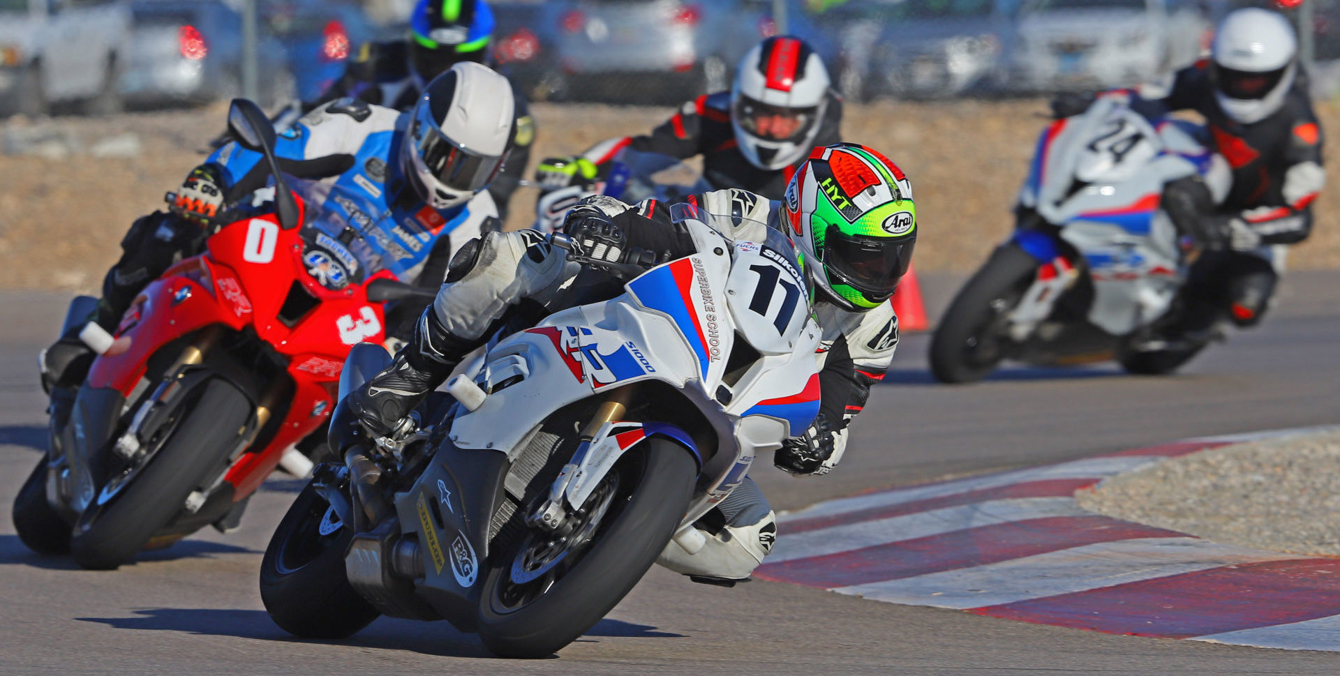 A scene from a California Superbike School. Photo courtesy of California Superbike School.