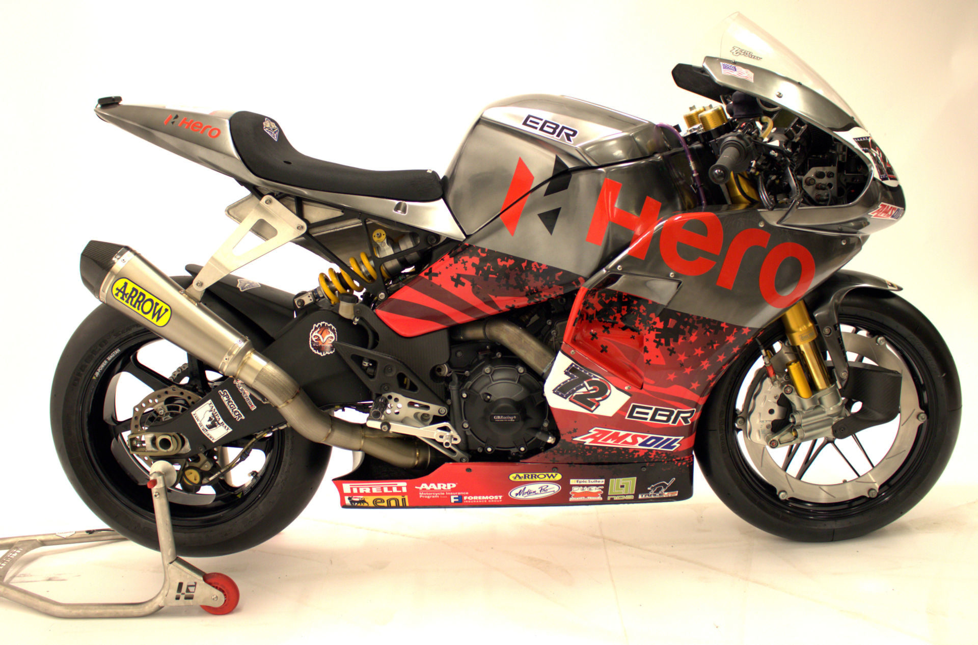 An ex-Larry Pegram Hero EBR 1190 World Superbike. Photo courtesy of NCCR.