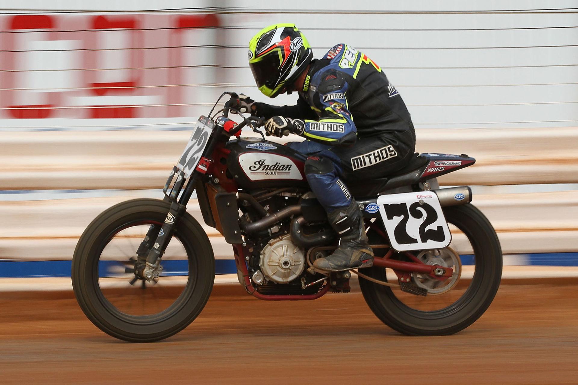 Mithos USA-sponsored AFT racer Larry Pegram (72). Photo by Thomas Stein, courtesy of Mithos USA.