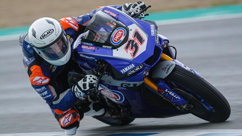 GRT Yamaha WorldSBK Junior Team's Garrett Gerloff (31) in Spain. Photo courtesy of Dorna World SBK Press Office.