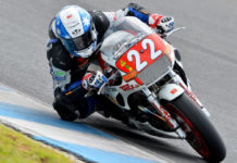 Jed Metcher (22) on his T-Rex Racing Yamaha FJ1200. Photo by Russell Colvin, courtesy of Phillip Island.
