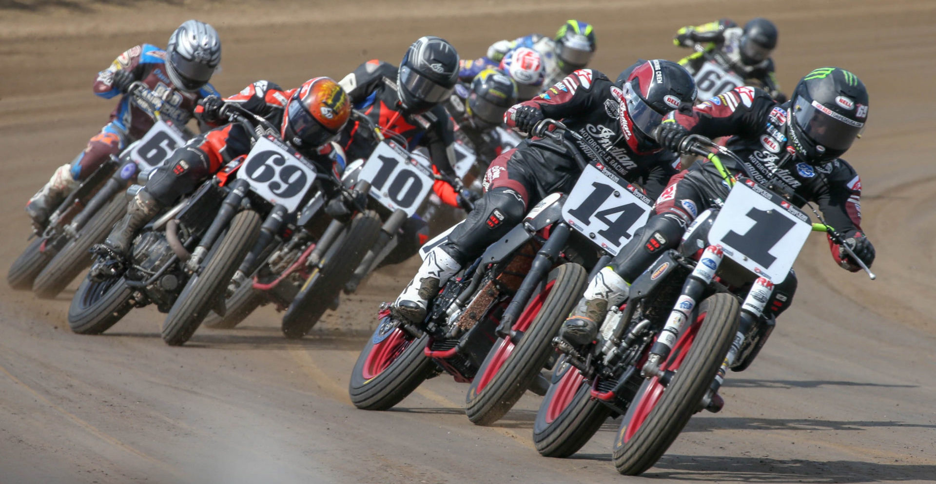AFT Twins riders in action during the 2019 season. Photo by Scott Hunter, courtesy of AFT.