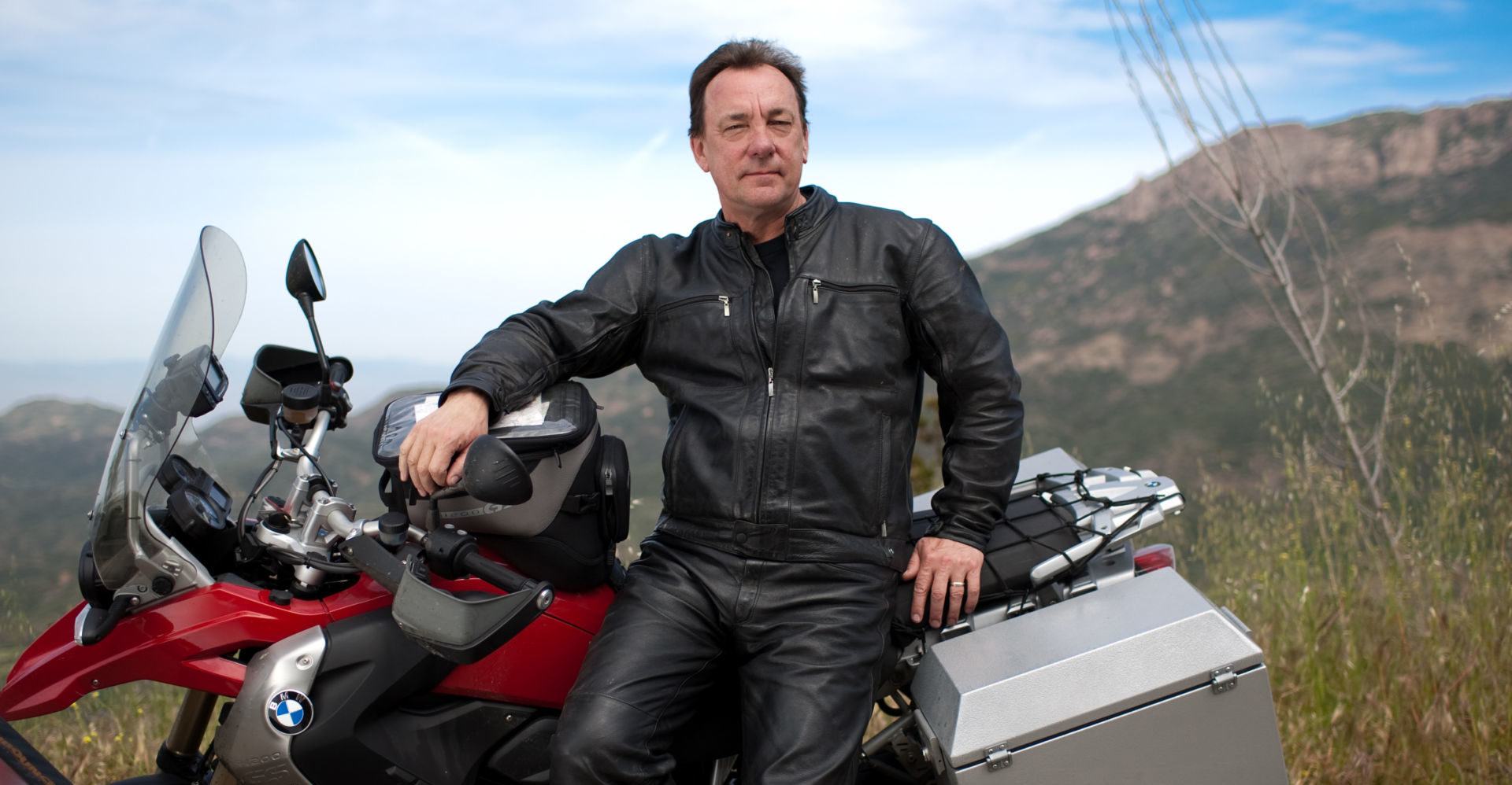 Neil Peart (R.I.P.). Photo by Holly Carlyle, courtesy of American Motorcyclist Association.